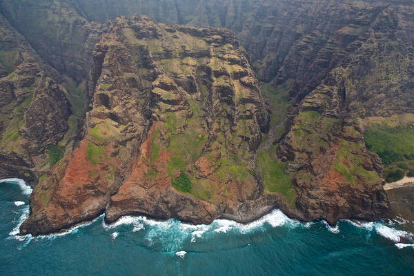 Photograph - Na Pali Coastline Aerial by Steven Lapkin