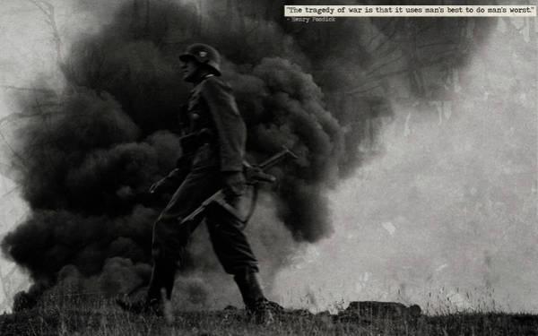 Sunset Digital Art - Soldier by Super Lovely