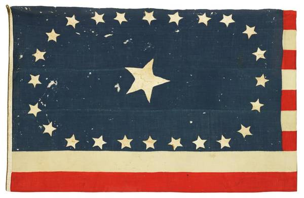 Painting - 25-star American National Flag by Artistic Panda