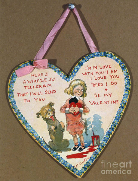 Painting - Valentine's Day Card by Granger