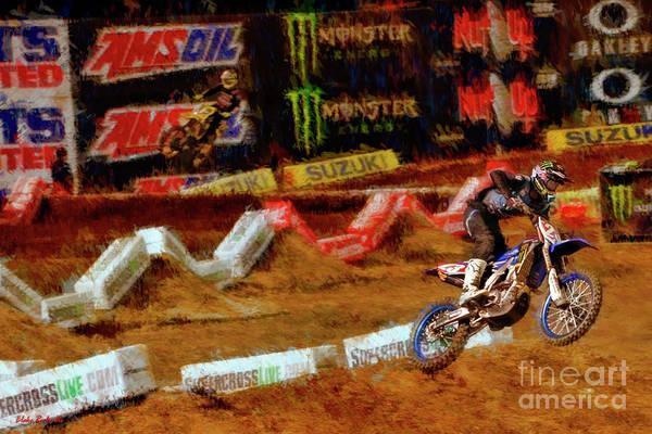 Photograph - 250 250 Supercross  Aaron Plessinger by Blake Richards