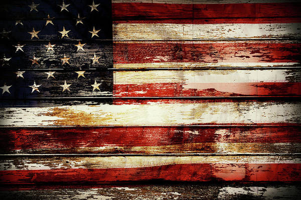 Wall Art - Photograph - American Flag 8 by Les Cunliffe