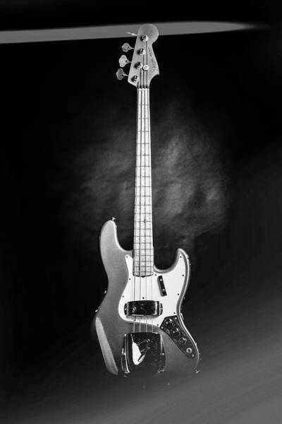 Photograph - 257.1834 Fender 1965 Jazz Bass Black And White by M K Miller
