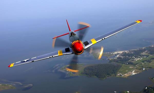 Aerial View Digital Art - 258518 Nature Aerial View Airplane Men Pilot Face Helmet Wings North American P 51 Mustang Flying Propeller Motion Blur Sea Trees Forest House Aviator by Mery Moon