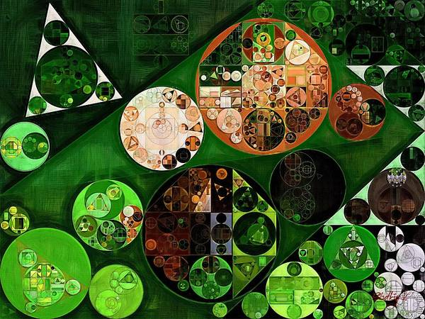 Dark Olive Green Wall Art - Digital Art - Abstract Painting - Dark Jungle Green by Vitaliy Gladkiy