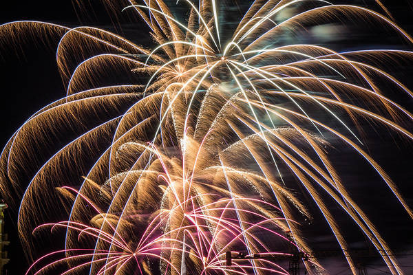 Photograph - Fireworks 2015 Sarasota 12 by Richard Goldman