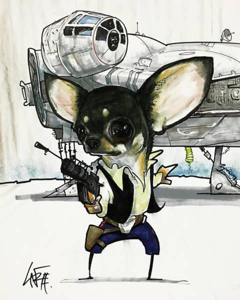 Han Solo Wall Art - Drawing - 2609 Giroski by John LaFree