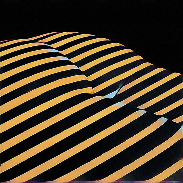 Digital Art - 2612s-ak Abstract Rear Butt Bum Thighs Zebra Striped Woman In Composition Style by Chris Maher