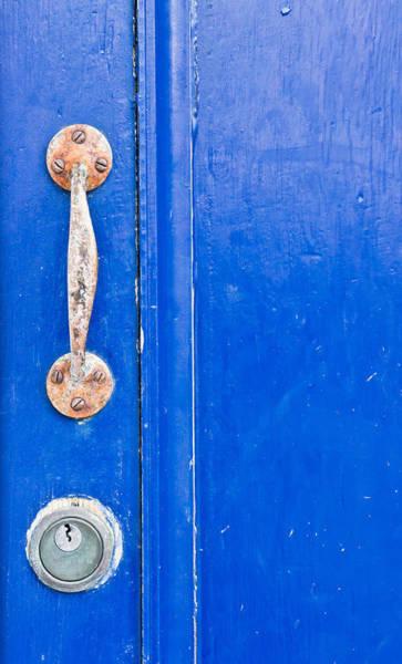 Bronze Age Wall Art - Photograph - Blue Door by Tom Gowanlock
