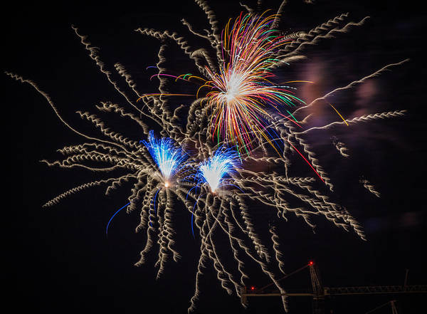 Photograph - Fireworks 2015 Sarasota 11 by Richard Goldman