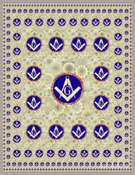 Wall Art - Painting - Freemason, Masonic, Symbols by Pierre Blanchard