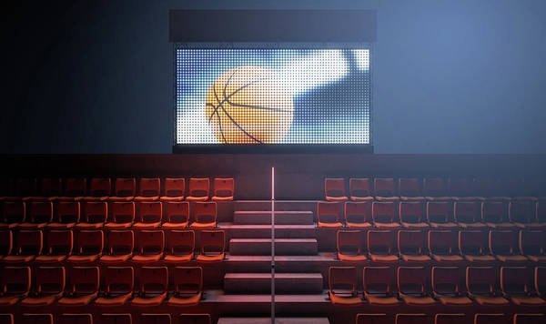 Scoreboard Digital Art - Sports Stadium Scoreboard by Allan Swart