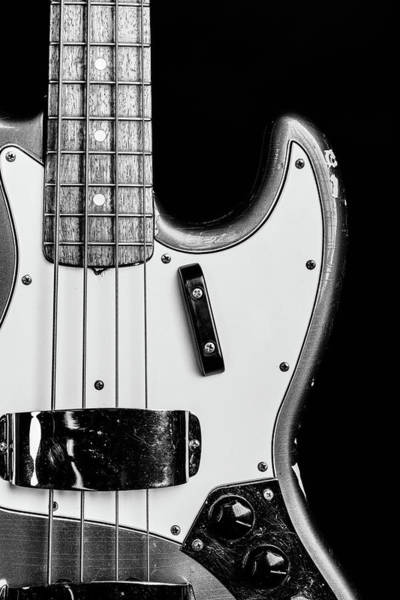Photograph - 271.1834 Fender 1965 Jazz Bass Black And White by M K Miller