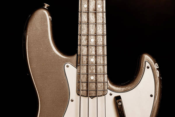 Photograph - 274.1834 Fender 1965 Jazz Bass Black And White by M K Miller