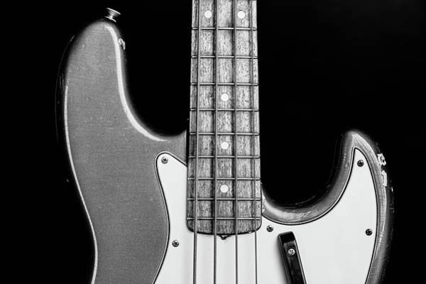 Photograph - 275.1834 Fender 1965 Jazz Bass Black And White by M K Miller