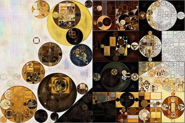 Wall Art - Digital Art - Abstract Painting - Zinnwaldite Brown by Vitaliy Gladkiy