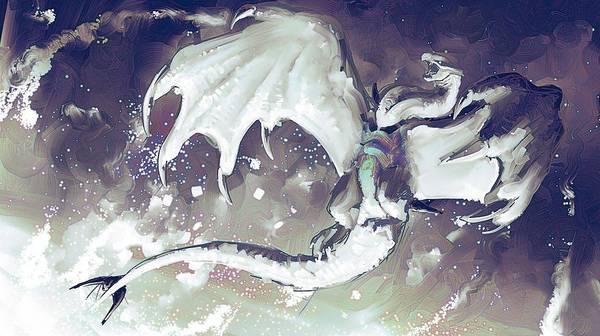 Animal Digital Art - Dragon by Super Lovely