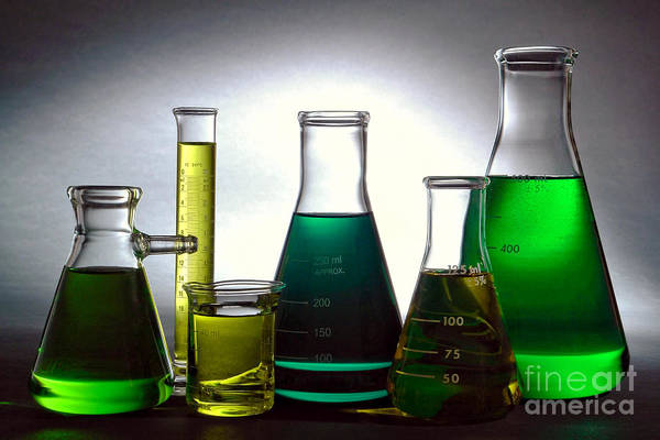 Wall Art - Photograph - Equipment In Science Research Lab by Olivier Le Queinec