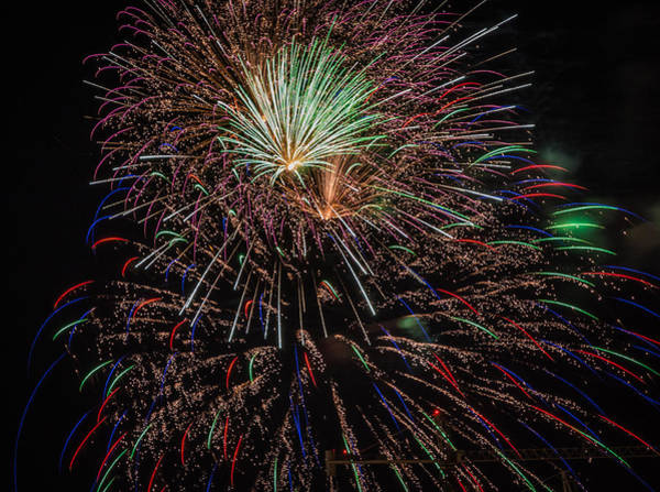 Photograph - Fireworks 2015 Sarasota 10 by Richard Goldman