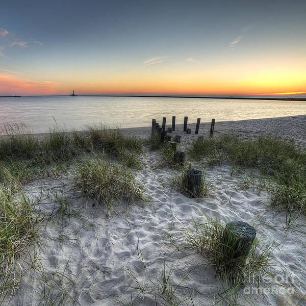 Up North Photograph - Ludington Beach by Twenty Two North Photography