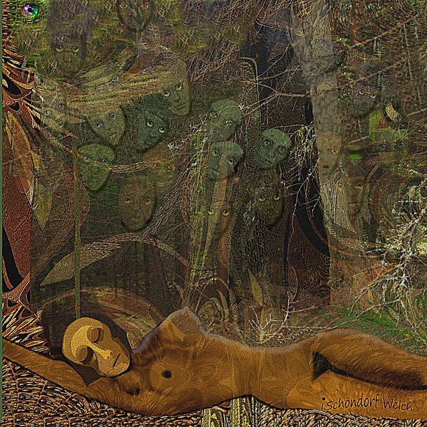 Wall Art - Digital Art - 2836 Some Are Forever Sleeping In The Woods 2018 by Irmgard Schoendorf Welch