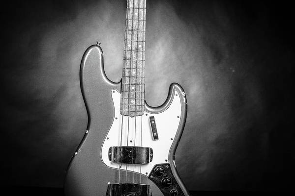 Photograph - 289.1834 Fender 1965 Jazz Bass Black And White by M K Miller