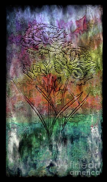 Painting - 28a Abstract Floral Painting Digital Expressionism by Ricardos Creations