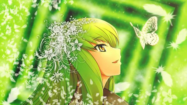 Green Digital Art - Code Geass by Super Lovely