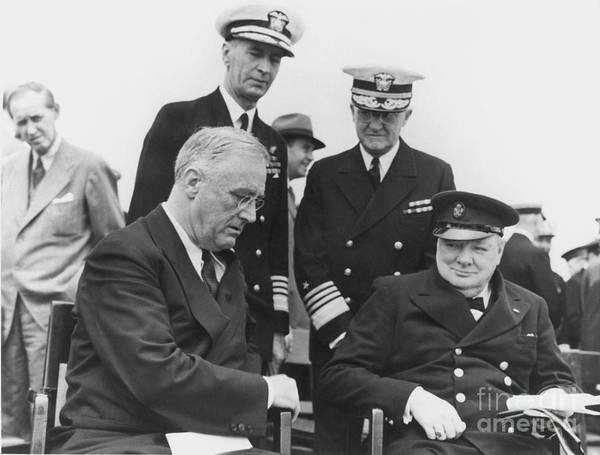 Leonard Photograph - Franklin Delano Roosevelt by Granger