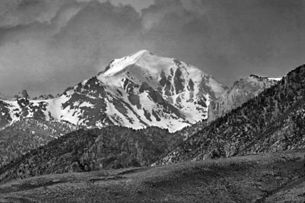 Photograph - 2d07508-bw High Peak In Lost River Range by Ed Cooper Photography