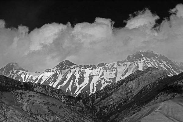 Photograph - 2d07509-bw High Peaks In Lost River Range by Ed Cooper Photography