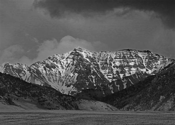 Photograph - 2d07510-bw Peak In Lost River Range by Ed Cooper Photography