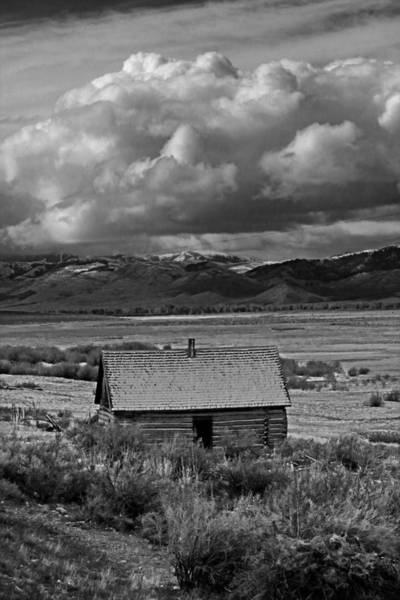 Photograph - 2d07515-bw Abandoned Cabin by Ed Cooper Photography