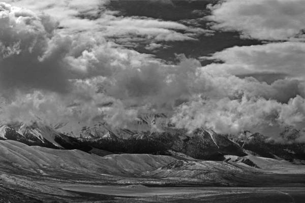 Photograph - 2d07517-bw Storm Over Lost River Range by Ed Cooper Photography