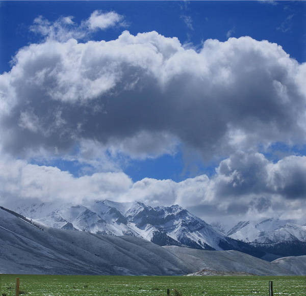 Photograph - 2d07519 Clouds Over The Lost River Range by Ed Cooper Photography