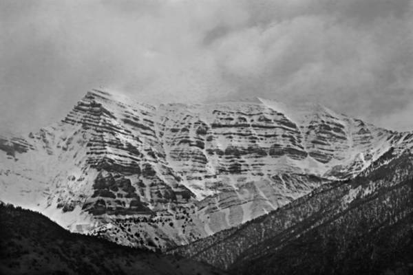 Photograph - 2d07520-bw Storm Shrouded Peak by Ed Cooper Photography