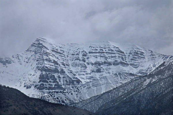 Photograph - 2d07520 Storm Shrouded Peak by Ed Cooper Photography