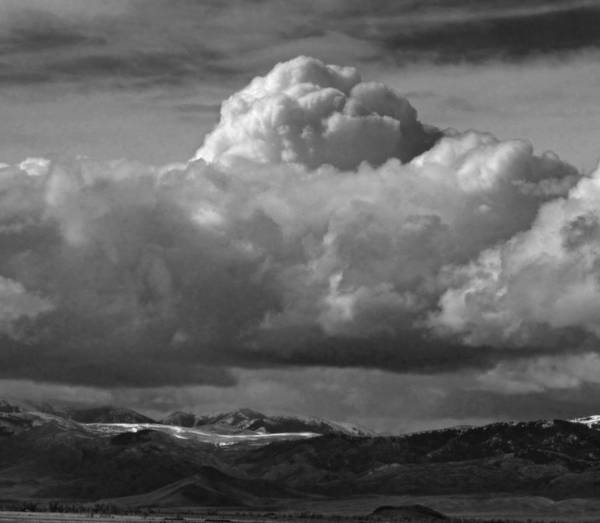 Photograph - 2d07521-dc-bw Clouds Over Thousand Spring Valley by Ed Cooper Photography