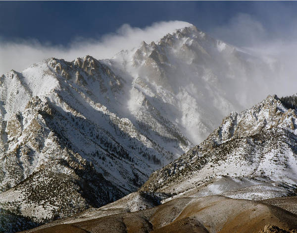 Photograph - 2m6470 Winter Winds Screaming Over Mt. Bradley by Ed Cooper Photography