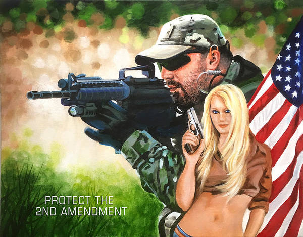 Wall Art - Painting - 2nd Amendment by Robert Korhonen