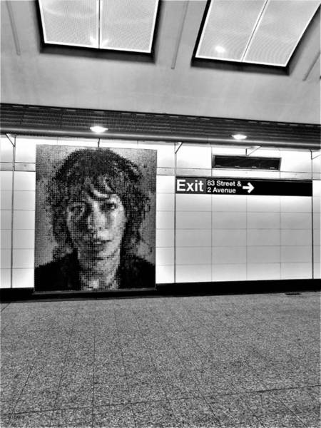 Photograph - 2nd Ave Subway Art Cecily Brown B W by Rob Hans