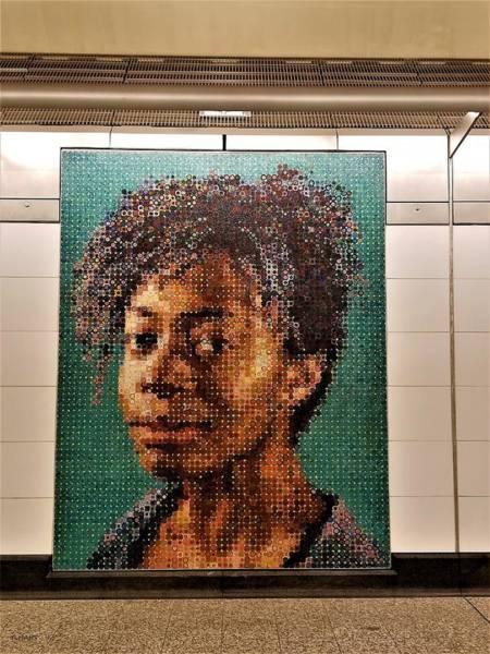 Photograph - 2nd Ave Subway Art Kara Walker by Rob Hans