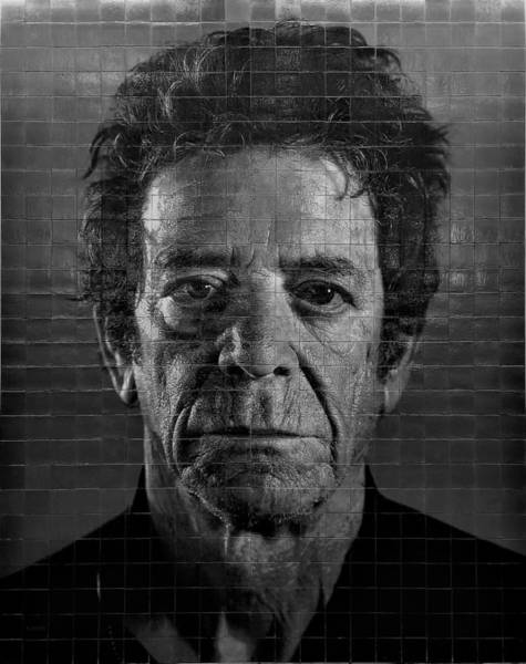 Photograph - 2nd Ave Subway Art Lou Reed B W 3 by Rob Hans