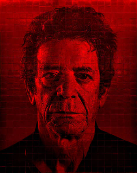 Photograph - 2nd Ave Subway Art Lou Reed Red by Rob Hans