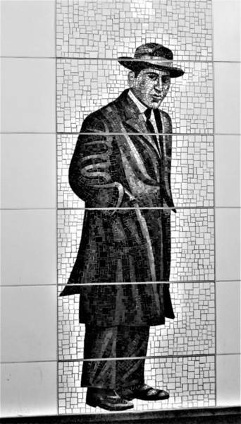 Photograph - 2nd Ave Subway Art Old Timers B W 3 by Rob Hans