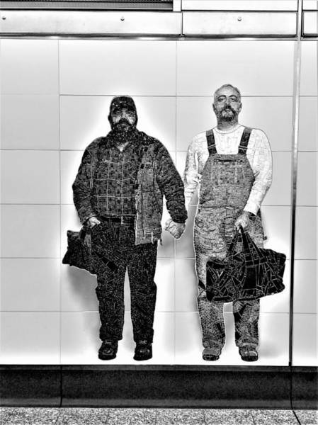Photograph - 2nd Ave Subway Art Perfect Strangers14 B W by Rob Hans