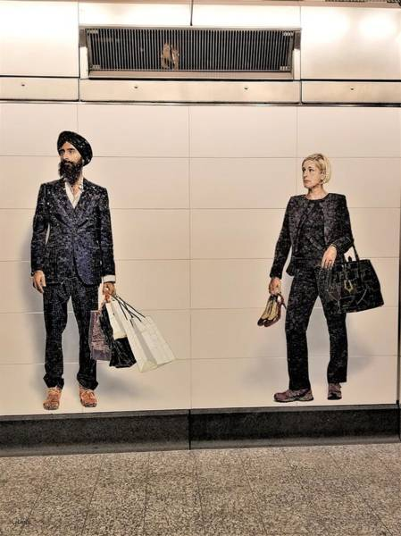 Photograph - 2nd Ave Subway Art Perfect Strangers15 by Rob Hans