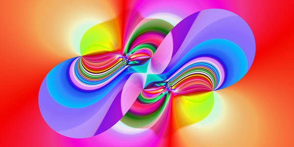 Digital Art - 2x1 Abstract 304 by Rolf Bertram