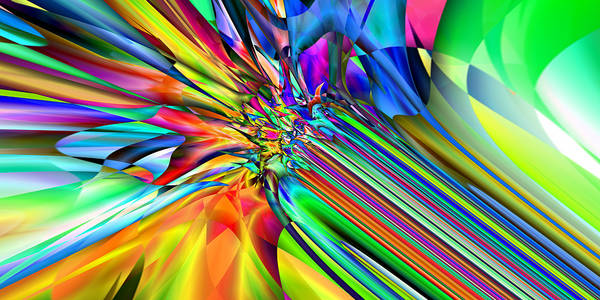 Digital Art - 2x1 Abstract 308 by Rolf Bertram