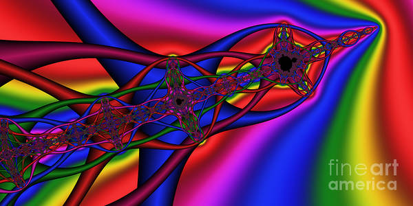 Digital Art - 2x1 Abstract 361 by Rolf Bertram